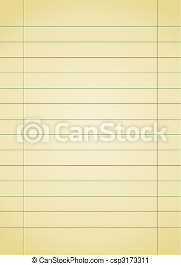 Notebook Paper Editable Vector Background Old Yellow Notebook