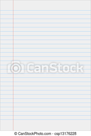 Notebook paper with lines - csp13176228