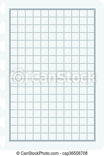 notebook papers with lines and grid vector illustration squared