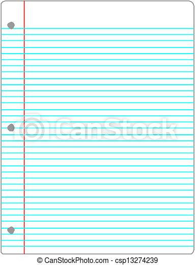 notebook sheet - csp13274239