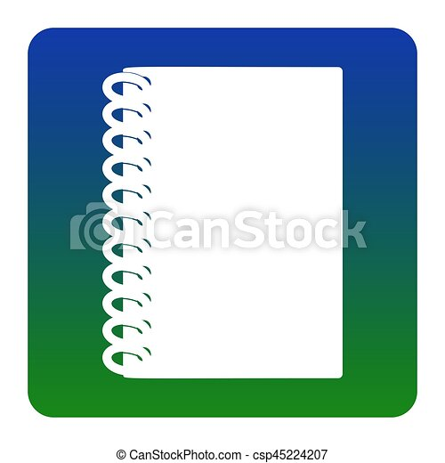 notebook simple sign vector white icon at green blue vector rh canstockphoto com notebook vector mobile 2400 notebook vector free download