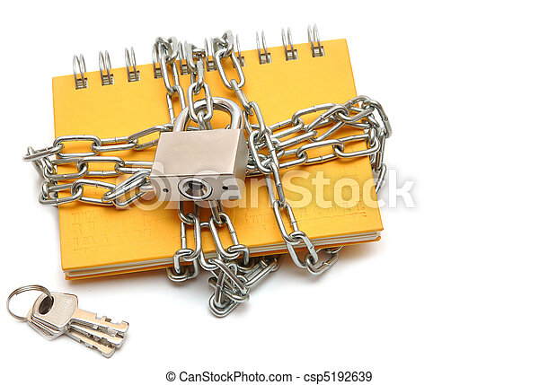 Notebook with a chain - csp5192639