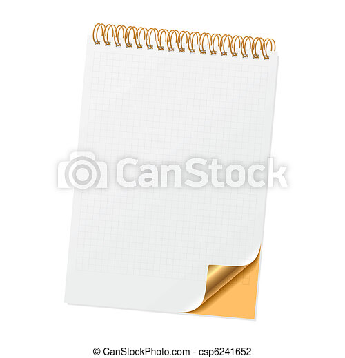 Notebook with curled corner - csp6241652
