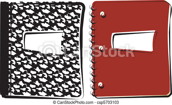 composition notebook vectors of notebooks a composition book and spiral bound
