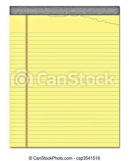 notepad, gele - csp3541516