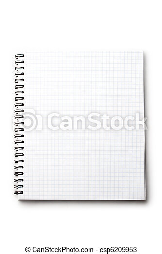 Notepad isolated on white - csp6209953