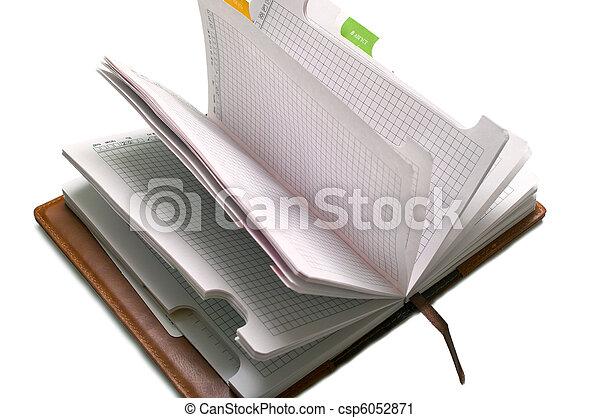 notepad on white - csp6052871