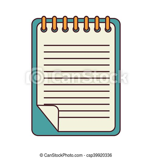 notepad stationery book notepad paper stationery school vectors rh canstockphoto com notepad clipart png notepad clipart background
