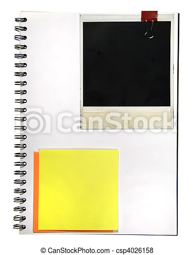 Notepad With Memo and Camera Frame - csp4026158