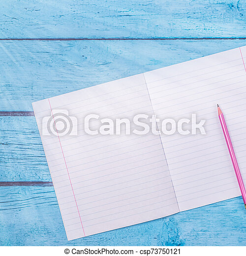 Notepad With Pencil On Wood Board Background Using Wallpaper For Education Business Photo Take Note Of The Product For