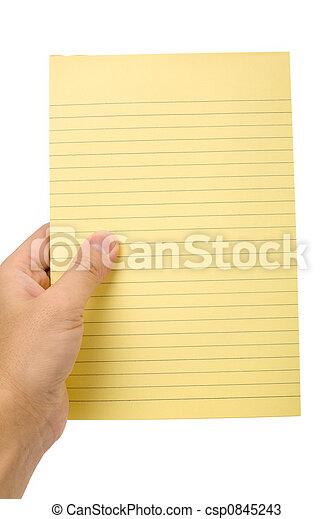 notepaper, amarela - csp0845243