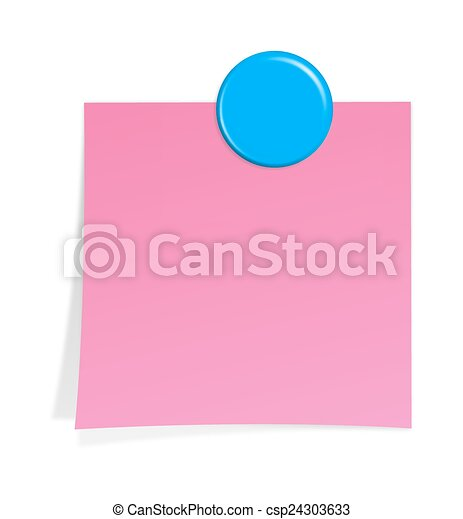 notepaper with magnet - csp24303633