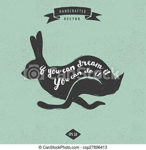 Citaten Noteren : Noteren etiket ontwerp konijn ouderwetse hipster