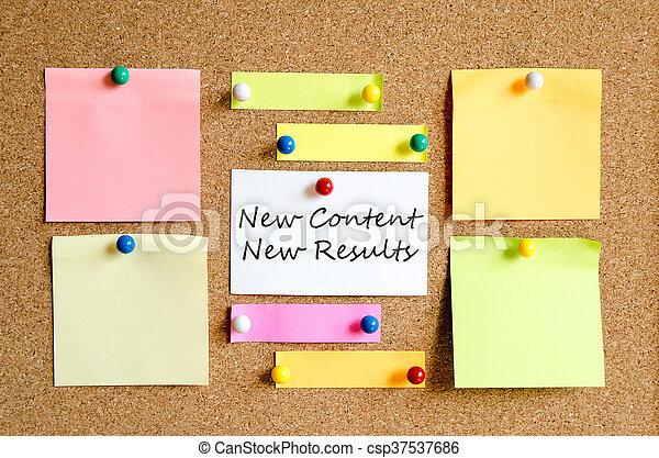 notes, coloré, collant - csp37537686