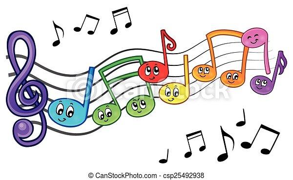 Notes, dessin anim?, th?me, 2, musique, image. Eps10, illustration., notes,  -, dessin anim?, th?me, vecteur, musique, 2, | CanStock