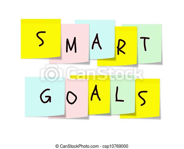 notes, intelligent, buts, coloré, collant - csp10769000