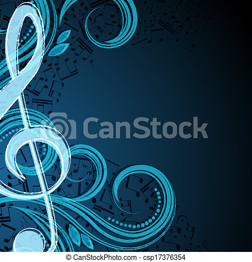 Notes musical vector background - csp17376354