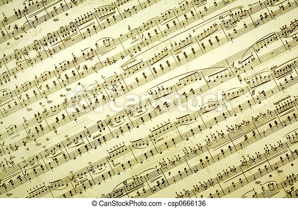 notes, musique - csp0666136