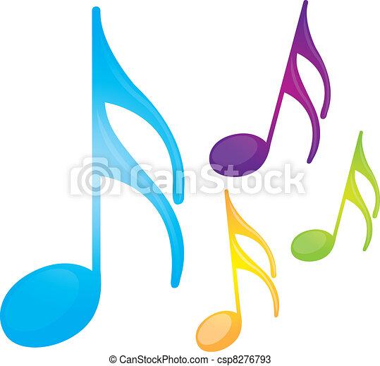 notes, musique - csp8276793