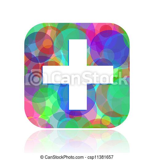 notfall, ikone - csp11381657