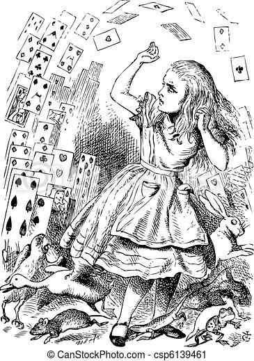 Nothing but a pack of cards. Alice in Wonderland - csp6139461