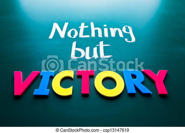 Nothing but victory - csp13147619