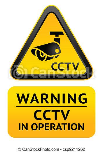 Notice Video Surveillance symbol - csp9211262