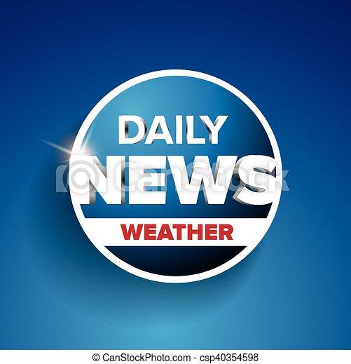 noticias, tiempo, diario - csp40354598