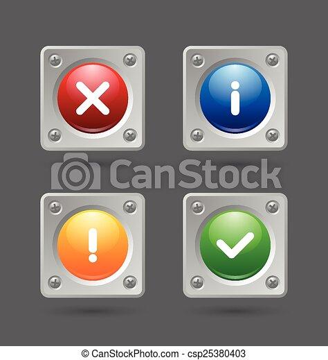 notificação, ícones - csp25380403