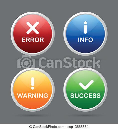 notificação, ícones - csp13668584