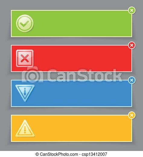notificação, bandeiras - csp13412007