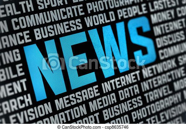 notizie, manifesto - csp8635746