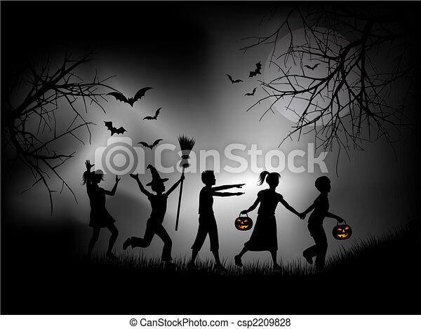 notte halloween - csp2209828