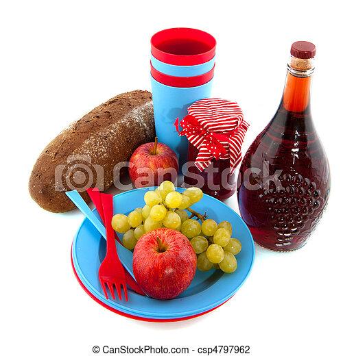 nourriture bleu pique nique vaisselle pique nique photo de stock rechercher images et. Black Bedroom Furniture Sets. Home Design Ideas