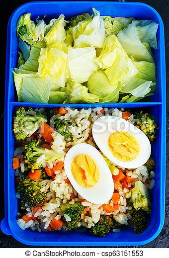 nourriture, boîte déjeuner - csp63151553