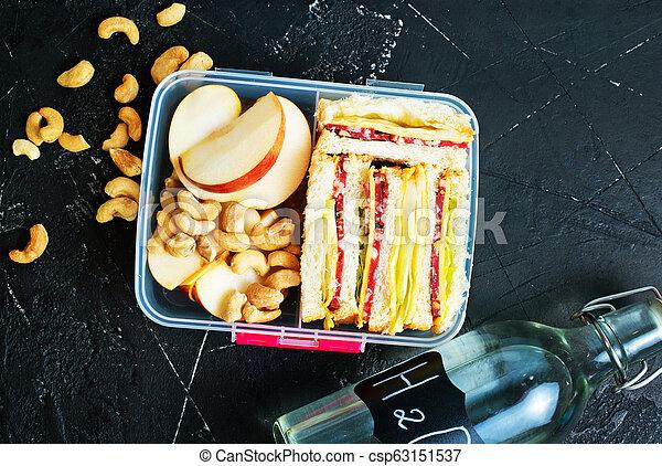 nourriture, boîte déjeuner - csp63151537