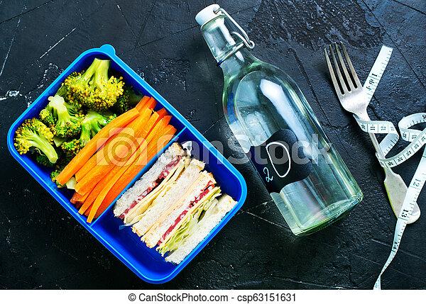 nourriture, boîte déjeuner - csp63151631