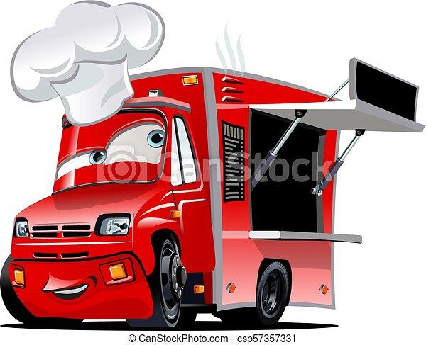 Nourriture Camion Dessin Animé