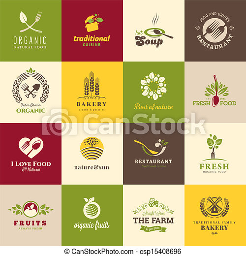 nourriture, ensemble, boisson, icônes - csp15408696
