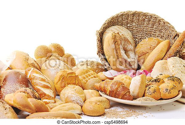 nourriture, frais, groupe, pain - csp5498694