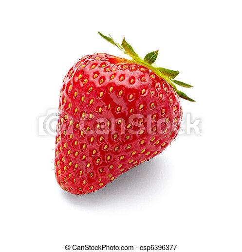 nourriture, fraise, fruit - csp6396377