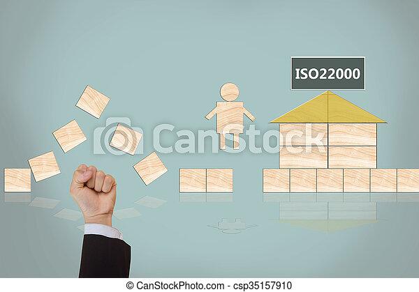 nourriture, gestion, sécurité, iso22000, specifying - csp35157910