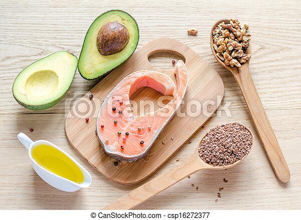 nourriture, graisses, insaturé - csp16272377