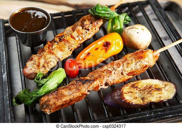 nourriture, gril, -, barbecue - csp0324317