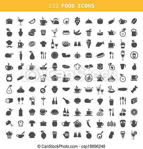 nourriture, icône - csp18896248
