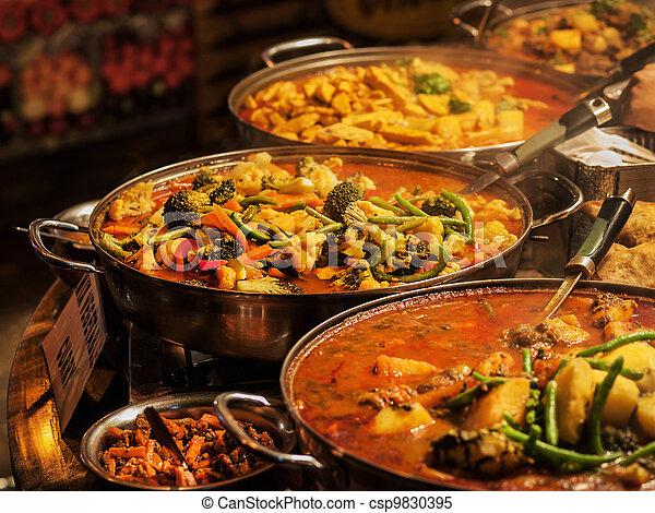 nourriture, indien - csp9830395
