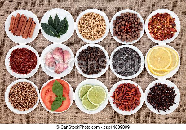 nourriture, ingrédient, échantillonneur - csp14839099
