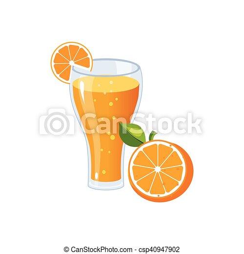 Nourriture Isolé élément Jus Orange Petit Déjeuner Icône