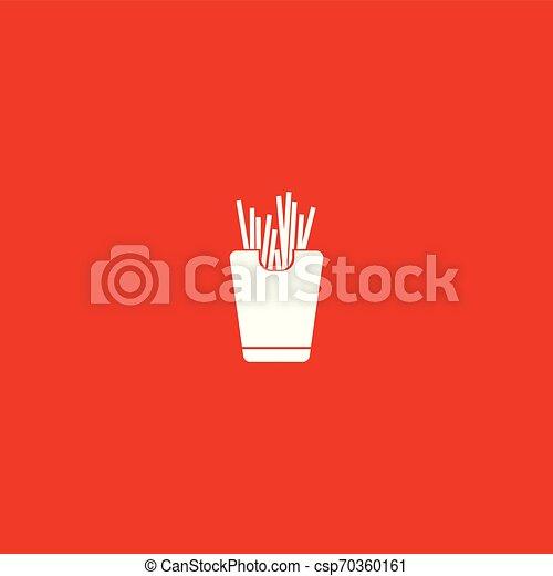 nourriture, isolé, jeûne, illustration, vector., icône - csp70360161