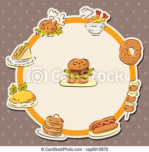 nourriture, jeûne, carte, restaurant - csp6915876